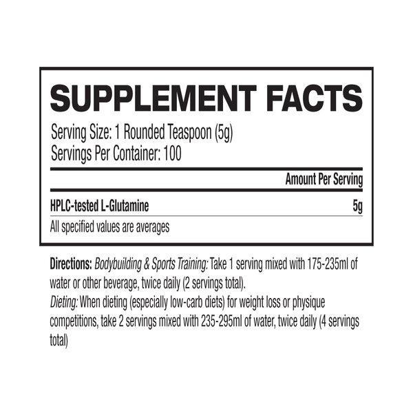 GAT ESSENTIALS L Glutamine Unflavoured SF 100Serve 1 - GAT SPORTS GLUTAMINE
