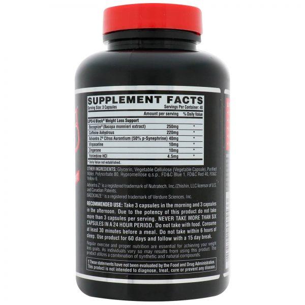 NUTREX LIPO 6 BLACK CAPS
