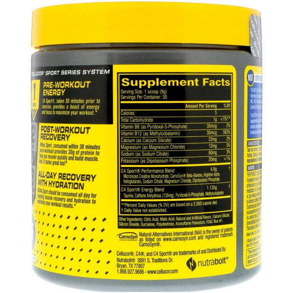 CELLUCOR C4 SPORT PREWORKOUT