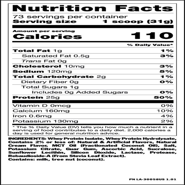 nutfacts isosurge bananacream us - MUTANT ISO-SURGE