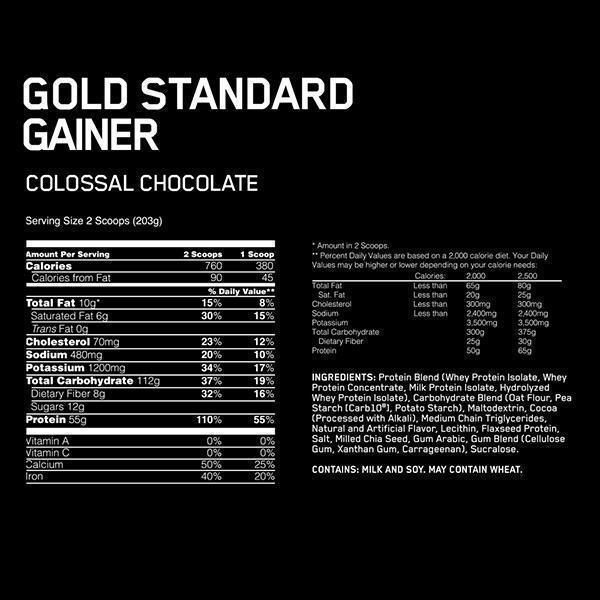 gold standard gainer 1596683829637 - OPTIMUM NUTRITION GOLD STANDARD GAINER